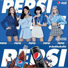 PEPSI BLACKPINK เป๊ปซี่ สีฟ้า 325 มล. ครบชุด 4 กระป๋อง  จีซู-เจนนี่-โรเซ่-ลิซ่า