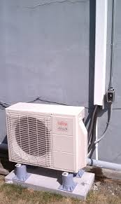 ductless heat pump installation heating green outdoor unit · head unit posted in ductless heat pumptagged