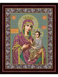 <b>Набор для вышивания</b> бисером икона Божией Матери ...