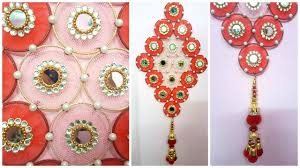 waste material craft work with paper awesome how to make wall hanging with bangles and cloth