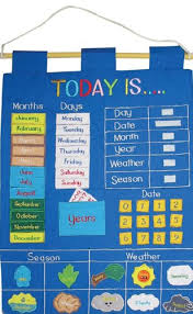 Date Chart For Classroom Childrens Today Is Fabric Wall Hanging Chart
