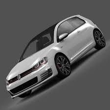 2014 Volkswagen Golf 7 GTI 3-Door 3D Model