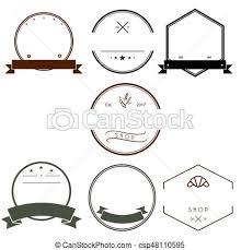 Vintage Logo Vector Vintage Logos Design Templates Set Empty Logotypes Collection