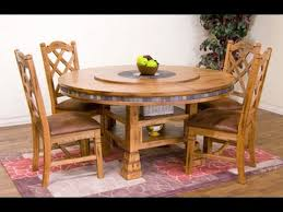 B Sedona Round Adjustable Height Dining Table With Lazy Susan By Sunny Designs