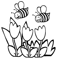 Small Picture Two Happy Bumblebee Flying Over the Flowers Coloring Page