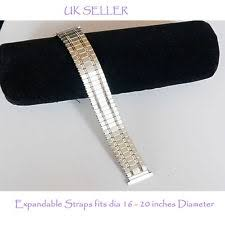 mens expandable watch strap mens stainless steel silver watch straps bracelets flexi expanding 16 20mm strap