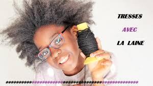 Tresses Avec La Laine Coiffure Enfants Cheveux Cr Pus Youtube