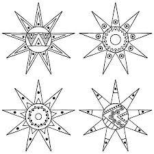 Vettoriale Set Di Vettore Disegnato A Mano Decorativo Stilizzato