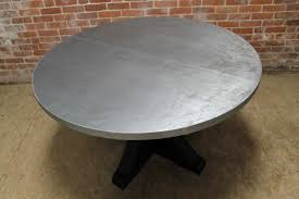 galvanized metal top dining table inspirational rustic oak coffee table round zinc small dining room metal