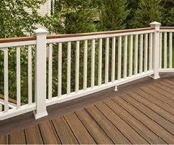 wood alternative decking. Modren Alternative Trex White Deck Railing And Wood Alternative Decking A