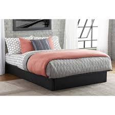 maven upholstered faux leather platform bed black multiple sizes