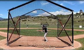 BATCO Home Plate Batting Cage Foldable Cages and Baseball Equipement \u2013