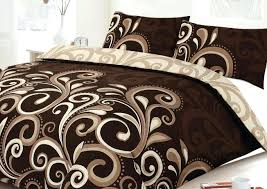 full size of more views aster scroll chocolate printed duvet cover brown duvet cover twin brown