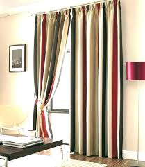 rugby striped curtains turn plain white into stripe red and curtain orange