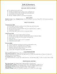 Qualifications Summary Examples Stunning Examples Interpersonal Skills Resume Of Sample Section With Computer
