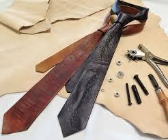 diy leather neckties