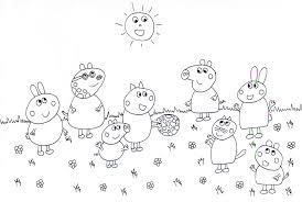 Disegni Di Peppa Pig Con Disegni Da Colorare Per Bambini Da Stampare