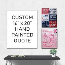 on custom word wall art canvas with your custom quote hand painted canvas wall art