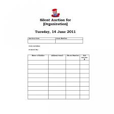 auction bid sheet template free free printable silent auction bid sheet template all about