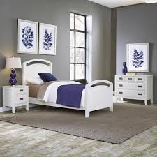 Superior Home Styles Newport 3 Piece White Twin Bedroom Set