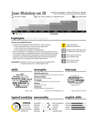 Infographic Resume Of Jose Maloloy On Iii Database Analyst