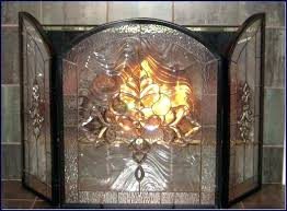 stained glass firescreen glass fireplace screens how to make a stained glass fireplace screen ideas tempered glass fireplace screens stained glass