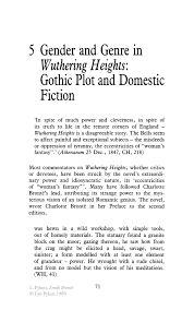 gender and genre in wuthering heights gothic plot and domestic inside