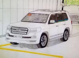 Toyota Land Cruiser V8 | White Pearl | On Artwork Illustration ...