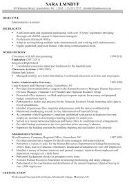 Sample Resume For Secretary Receptionist Samples Office Assistant