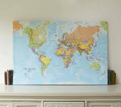 ikea world map canvas