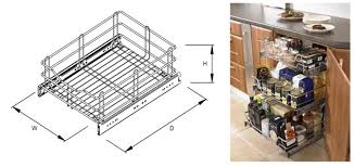 ... Astonishing Furniture Design With Slide Out Wire Basket : Fantastic  Furniture For Kitchen Decoration With Spice ...