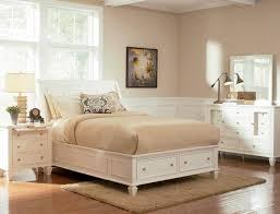 Sandy Beach Queen Sleigh Storage Bed - White - DFW Furnituremart