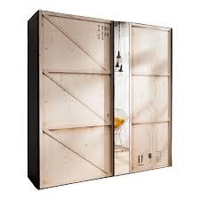 Schwebetürenschrank 2 Türig In Digitaldruck Kiste Mit Spiegel
