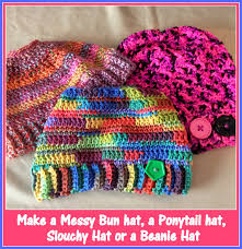 Free Crochet Hat Pattern With Ponytail Hole Adorable 48 Free Messy Bun Hat Crochet Patterns Make A Ponytail Beanie