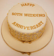 Simple Golden Wedding Anniversary Cake Little Cake Shop Facebook