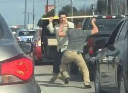texas men caught on video fighting weapons during violent cellphone footage captured by an austin driver shows two men using weapons during a violent road