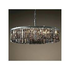 glass prism chandelier inch smoked glass crystal