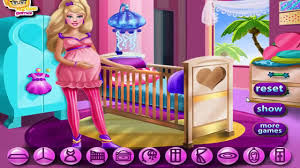 barbie games pregnant barbie maternity deco