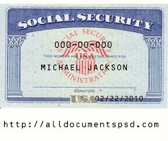 Ssn Security Social Easy Psd Downloadonline Template Editable Card