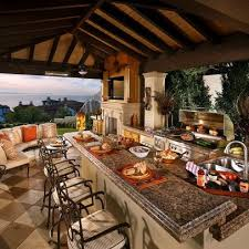 Creativity Covered Patio Ideas Fascinating Outdoor Kitchens R Inside Simple Design