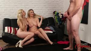 Naughty brunette Pervert CFNM babe Mia Malone love watching a Jerk.