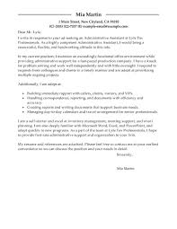 Executive Assistant Cover Letter Template For Resume Samples