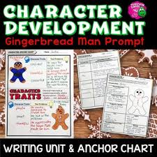 Character Development Gingerbread Man Narrative Writing Unit Anchor Chart