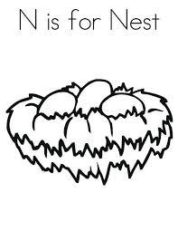 600x776 bird nest n is for bird nest coloring pages mfw kindergarten