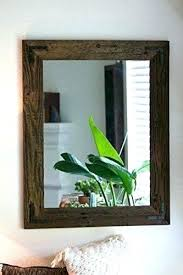 rustic wood framed mirrors. Reclaimed Wood Wall Mirror Framed Mirrors Astonishing Idea Bathroom . Rustic