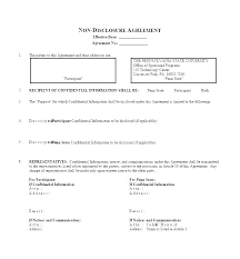 Free Nda Template Business Template Non Disclosure Agreement Sample Simple