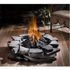 architecture propane fire pit inviting home loft concepts salta stone table reviews intended for 0