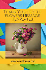 Thank You For The Flowers Message Templates