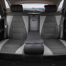 car suv truck pu leather seat cushion covers rear bench cover gray 0