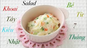 Ăn dặm kiểu Nhật: Salad khoai tây mix sữa chua kiểu Nhật dành cho bé từ 7  tháng. - YouTube